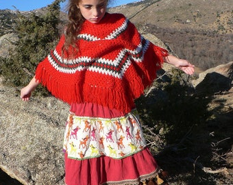 girl's skirt in corduroy and patchwork