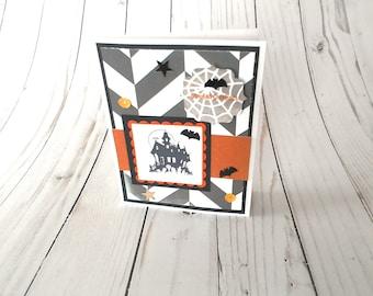 All Hallows Eve Card, Halloween Card, Halloween Greeting, Handmade Card, Paper Greeting Card, Halloween Notecard, Stampin Up Card
