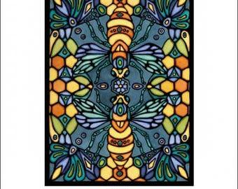 "Bee Mosaic - 8""x10"" Unframed Giclee Print"