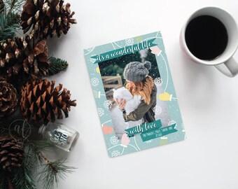 It's a wonderful life Photo Christmas Card - Christmas Card - Photo Holiday card - photo card - christmas photo card - custom christmas