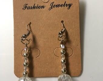 Sparkly Czech glass bead ear rings