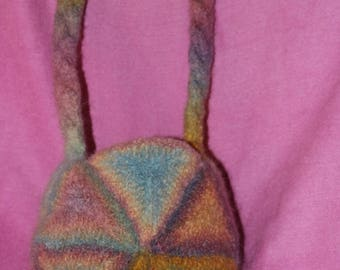 Hand knitted Felted Bag