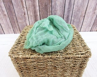 Newborn Cheesecloth Wrap, Kelly Green Baby Wrap, Maternity Cheesecloth Wrap