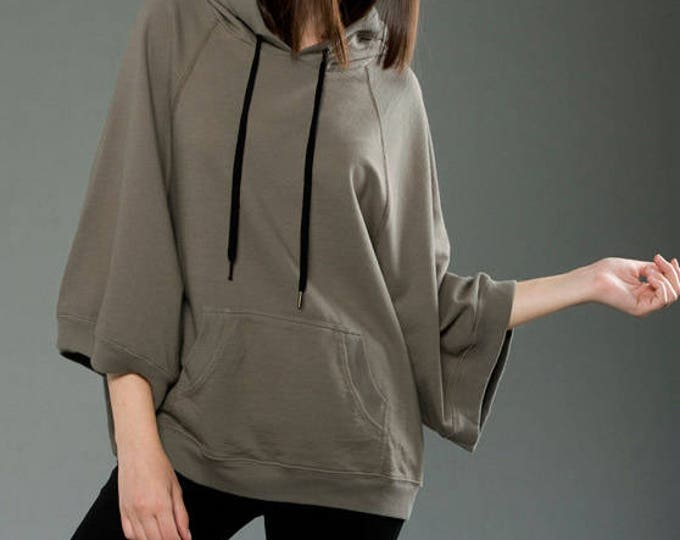 French Terry Poncho Hoodie - Wholesale Only - We will print your chosen design!