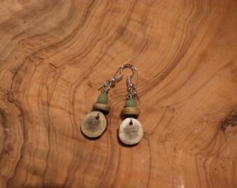 Antler Slice Earrings