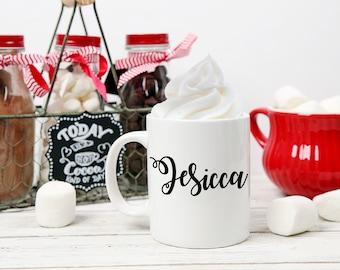 Personalized Cups for Cocoa Party, Hot Cocoa Coffee Mug, Coffee Mug, Custom Hot Chocolate Mug, Best Friend Gift, Cocoa Bar, Coffee Bar