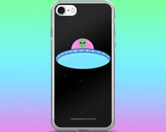Trippy Alien in a UFO IPhone Case, iPhone 7/7plus, iPhone 6/6 Plus, iPhone 5