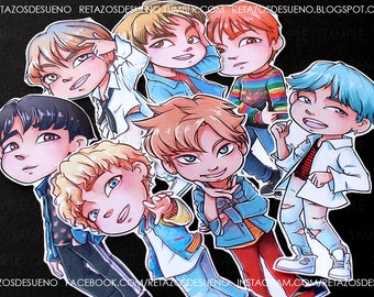 BTS Bangtan Boys DNA | HER Love Yourself | RapMonster, Jin, Jimin, Jungkook, V, Suga, JHope | Stickers