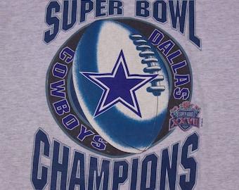 1993 Starter Dallas Cowboys Football Super Bowl XXVII Champions Shirt