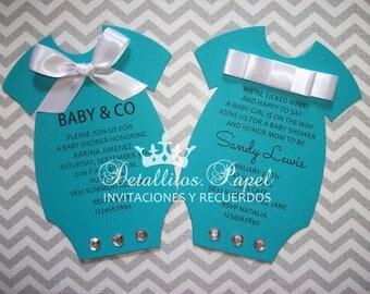 Baby Shower invitation, Onesie Invitations, Invitaciones Baby Shower, Onesie invitation 50