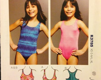 Kwik Sew K3785 Tank Style One Piece Swimsuit with Racerback Option - Size XS S M L XL