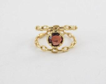 14k Yellow Gold Garnet Ring Size 5 - 14k Yellow Gold January Birthstone Ring