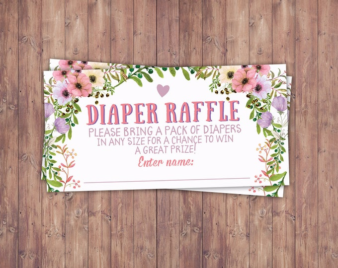 Diaper raffle, Floral, rustic, BOHO, BabyQ chalkboard couples co-ed Baby Shower BBQ invitation - babyq - boy girl- , baby girl shower