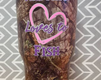 This Mimi loves to fish custom tumbler