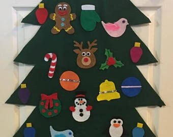 Felt Christmas Trees with FREE SHIPPING in the USA!