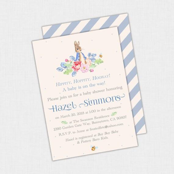 Peter rabbit baby shower invitation peter rabbit birthday invite il570xn filmwisefo
