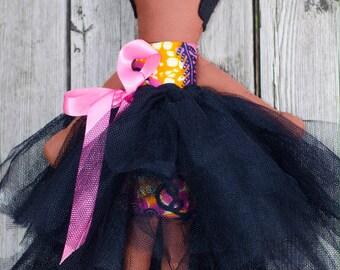 Black rag doll, small doll, african print fabric, softie, tutu, hair bow, pink ribbon, african american doll, african doll, black baby doll,
