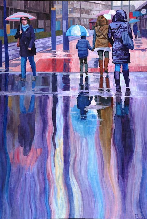 "Rain Spirits, print 12X16"""