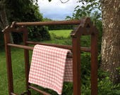 Country Farmhouse Wooden Antique Vintage Edwardian Free Standing Towel Rail FREE DELIVERY Handmade