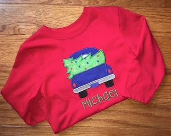 Little Blue Truck Christmas Shirt, Truck Christmas Shirt, Boys Christmas Shirt, Boys Little Blue Truck Christmas Shirt, Boys Truck Shirt