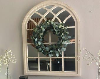 Silver dollar eucalyptus wreath (artificial/fake)