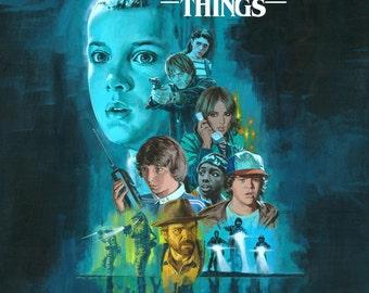 Stranger Things Poster Art Stranger Things Print Stranger Things Wall Art Stranger Things Eleven Stranger Things 11 Movie Poster Art