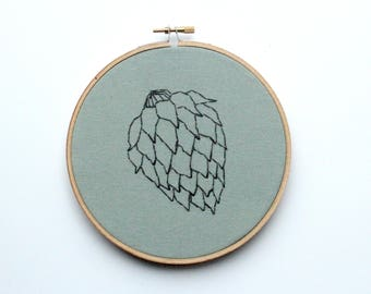Craft Beer Contemporary Embroidery Hoop Art, 6""