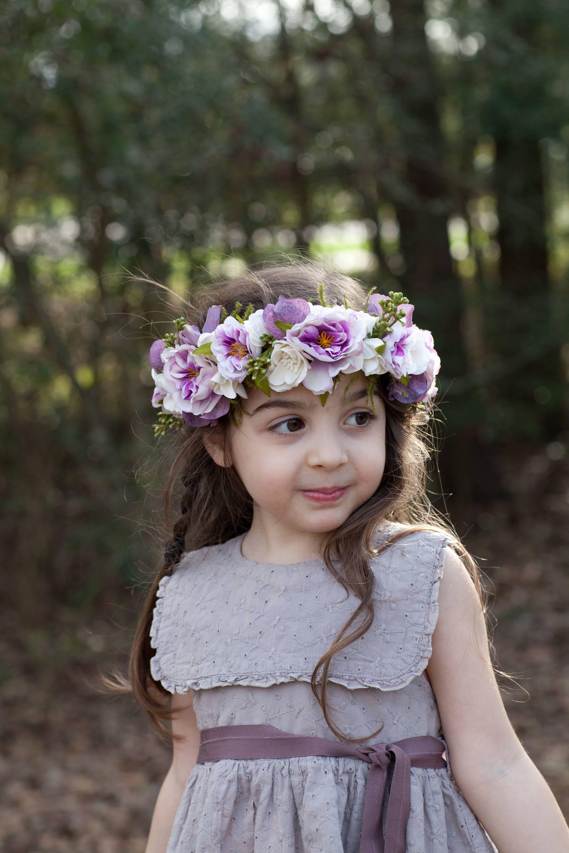 Flower girl crown flower crown toddler tieback flower crown zoom izmirmasajfo