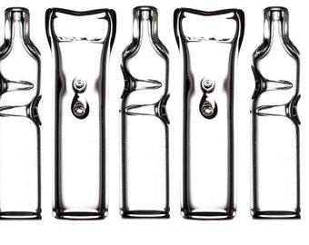 100 Bulk Wholesale flat-mouth glass filter tips