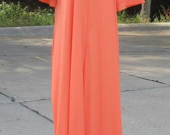 """Vanity Fair Full-Length Nylon Robe, Zipper Front, """"S"""""""