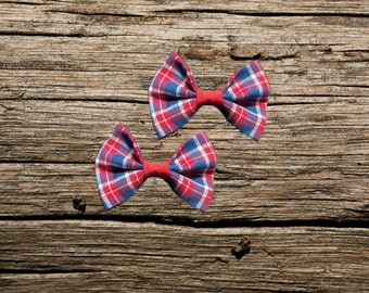 Red & Bule Plaid Pet Bow Tie