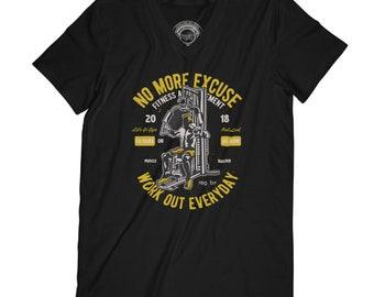 Workout t-shirt motivation t-shirt gym t-shirt fitness t-shirt no more excuse husband gift brother gift WOD shirt beast t-shirt APV84