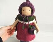 "Waldorf doll Duniasha 10"", waldorf fairy, waldorf toddler toy, cloth doll waldorf handmade, knitted doll, organic waldorf doll, soft doll"