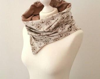 Loopy - a 2 sides scarf / cowl / hood