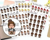 Coffee Planner Stickers - Frappe Planner Stickers - Iced Coffee Stickers - Character Stickers - 1222 - 1223 - 1224 - 1225 - 1226