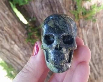 Kambaba Jasper Hyper-Realistic Skull ~Stone of Peace and Tranquility~Banishes Nightmares~Wisdom~Cleansing~ Shamanic