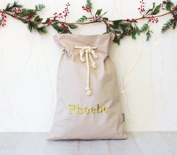 Personalised Santa Sack Gold