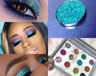 SPARKLY PRESSED GLITTER Eyeshadow Cosmetic Makeup (Mermaids Touch) uk