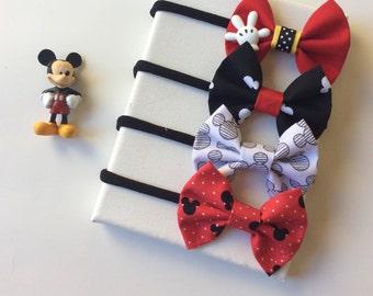 The Mickey Mouse bow set, MIckey Mouse bow, MIckey baby headband