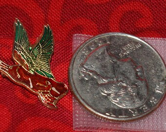 vintage flying duck hat pin with pin back - 517a
