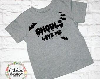 Ghouls Love Me - Ghouls Love Me Shirt - Toddler Boy Halloween Shirt - Halloween Shirt - Halloween Costume - Boys Halloween Shirt - Halloween