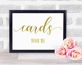 Wedding Card Sign, Wedding Gift Sign, Card & Gift Wedding Sign, Gold Foil Wedding Sign, Wedding Present Sign
