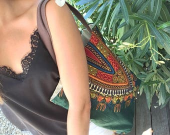 """Green """"Africa"""" Tote"""