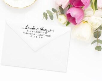 Return Address Stamp, Address Stamp, Custom Address Stamp, Wedding Return Address Stamp, Personalized Return Address Stamp, Rubber Stamp #60
