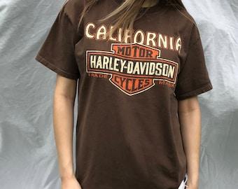 Vintage Harley Davidson Motorcycle Tee (L)
