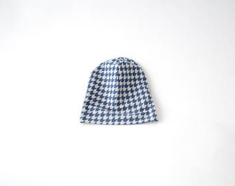 Beanie Hat - shapes blue graphics
