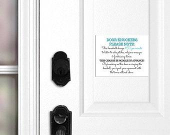 Funny No Soliciting Sign, No Soliciting Door Magnet, Do Not Ring Doorbell, Do Not Knock, No Soliciting Door Hanger, Front Door Sign, Gift