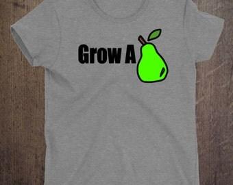 Grow a pair funny t-shirt