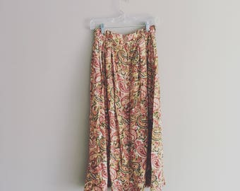 90's Paisley Midi Skirt