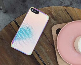 holographic mermaid phone case, holo, iPhone 6, iPhone 7,  iphone 7 plus, iphone 6 plus,reflective,mermaid scales, rainbow,  shiny